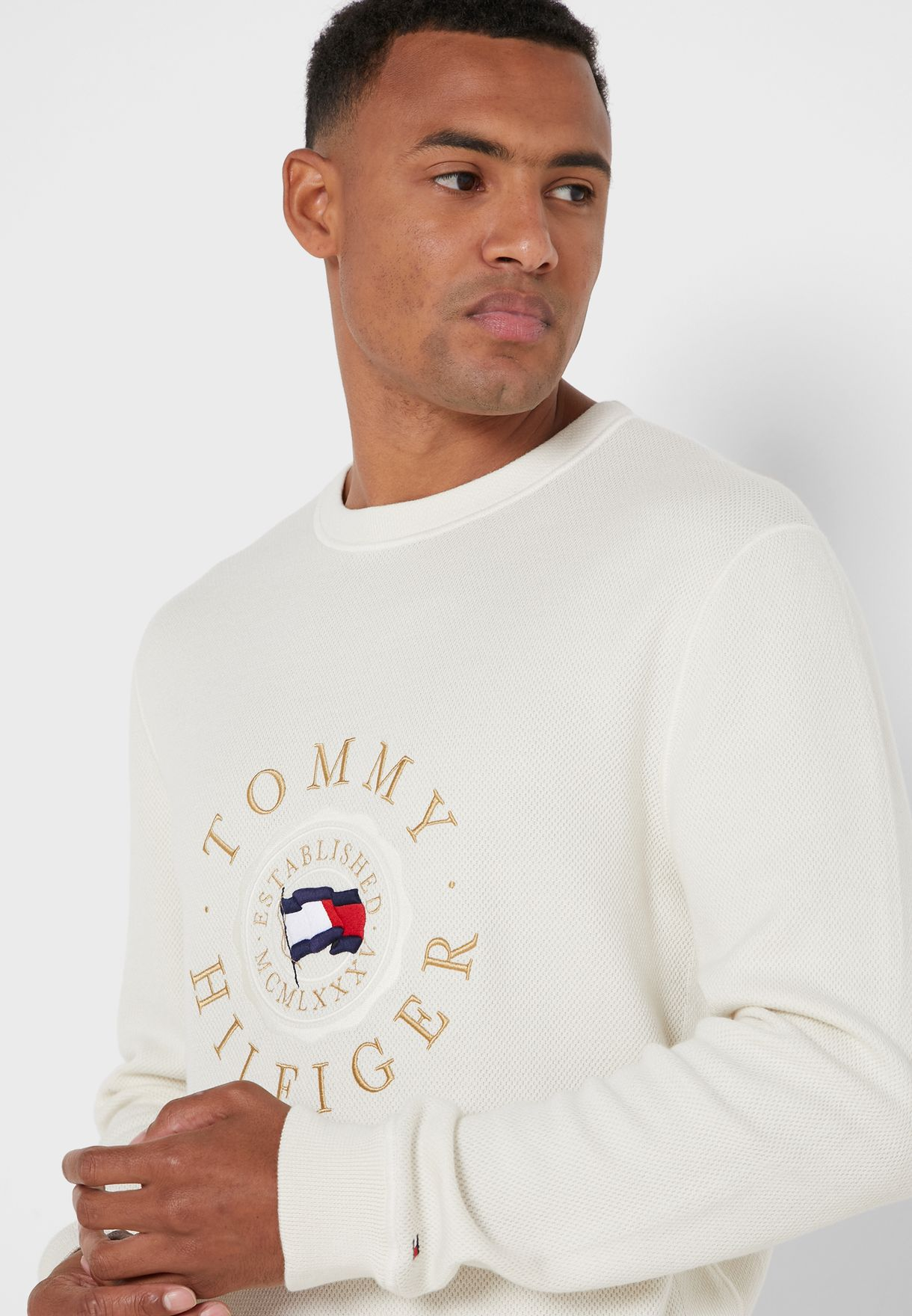 Structured Graphic Sweater