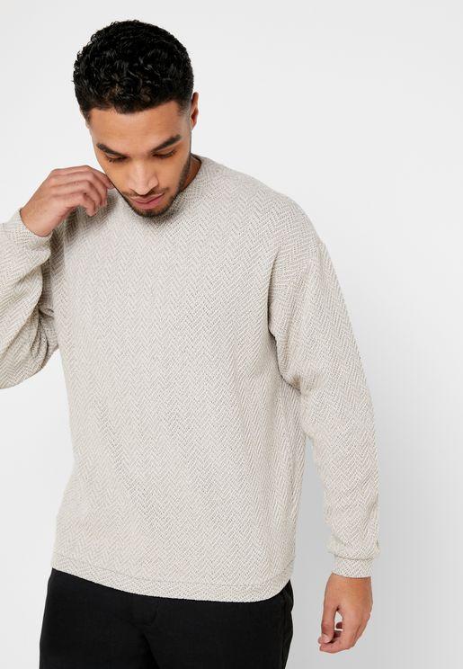 Chevron Knitted Sweatshirt