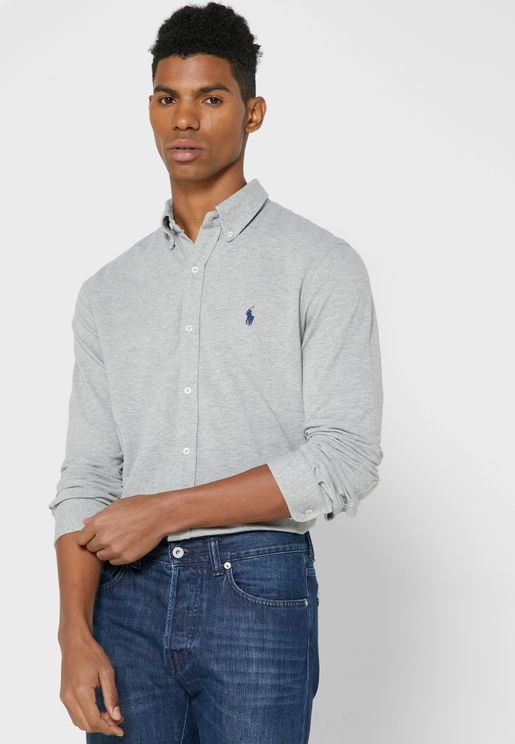 Chest Logo Slim Fit Shirt