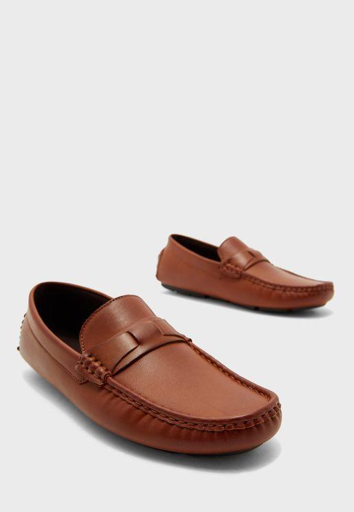 حذاء لوفرز جلد