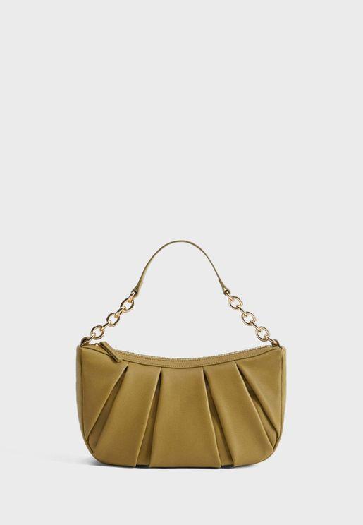 Pleats Baguette Bag