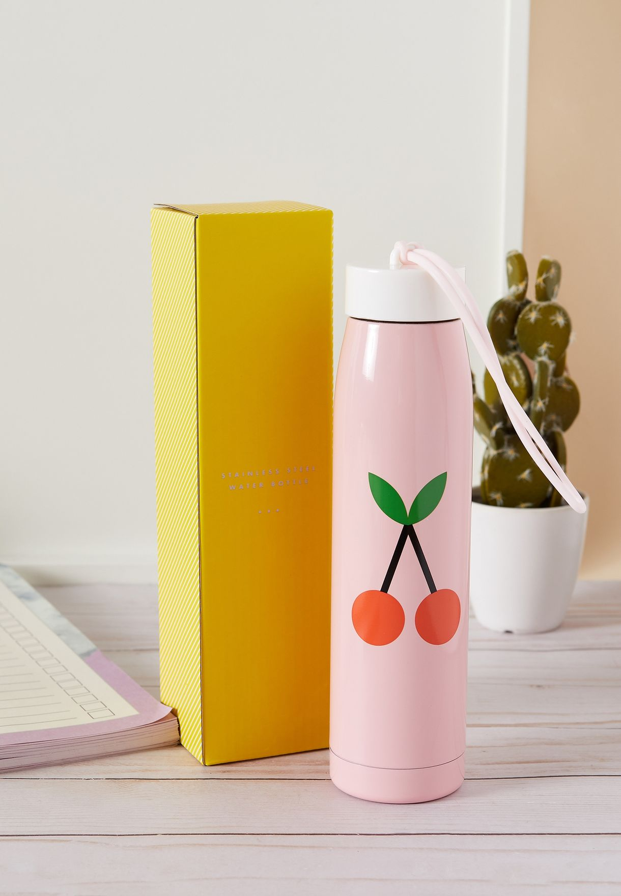 Cherry Printed Cute Water Bottle