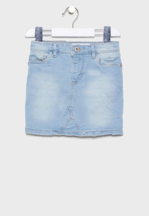تنورة جينز بخمسة جيوب