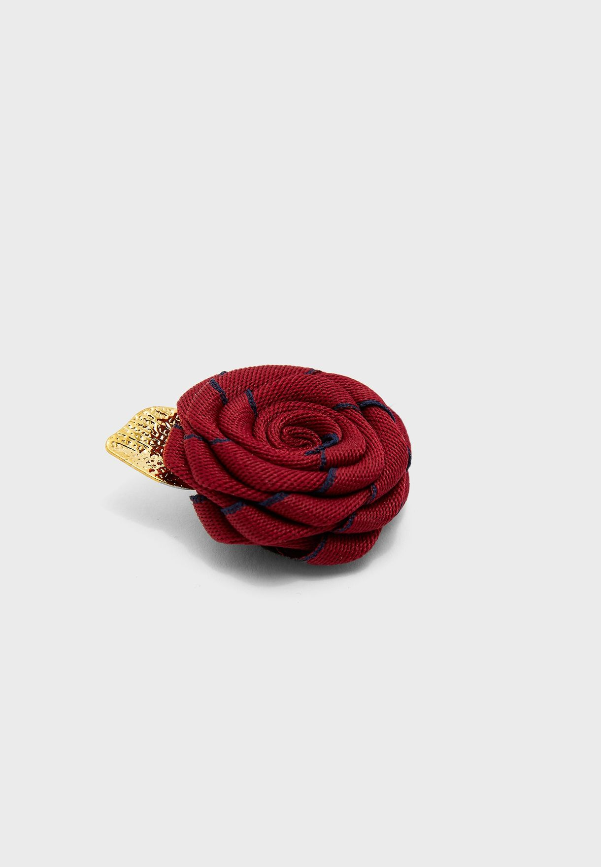 Formal Red Rose Brooch