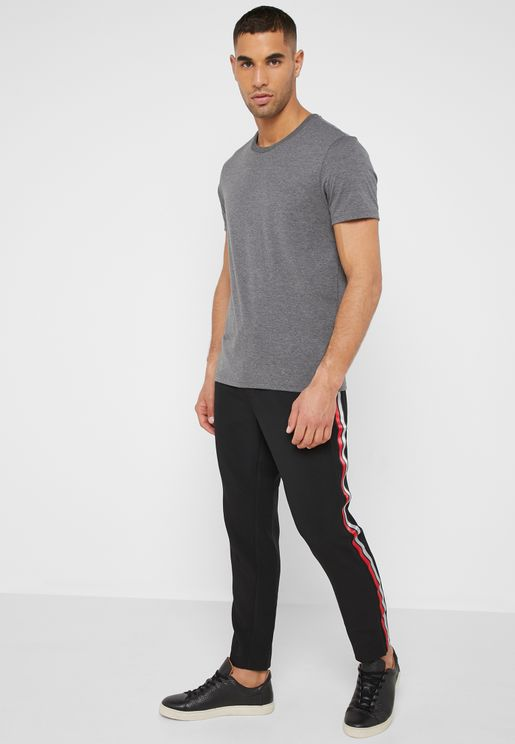Side Stripe Cropped Joggers