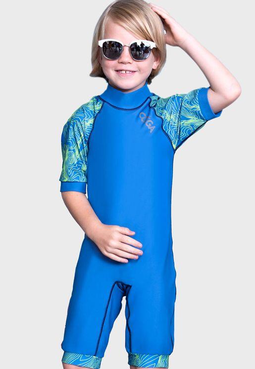 Kids Topographic Swim Suit