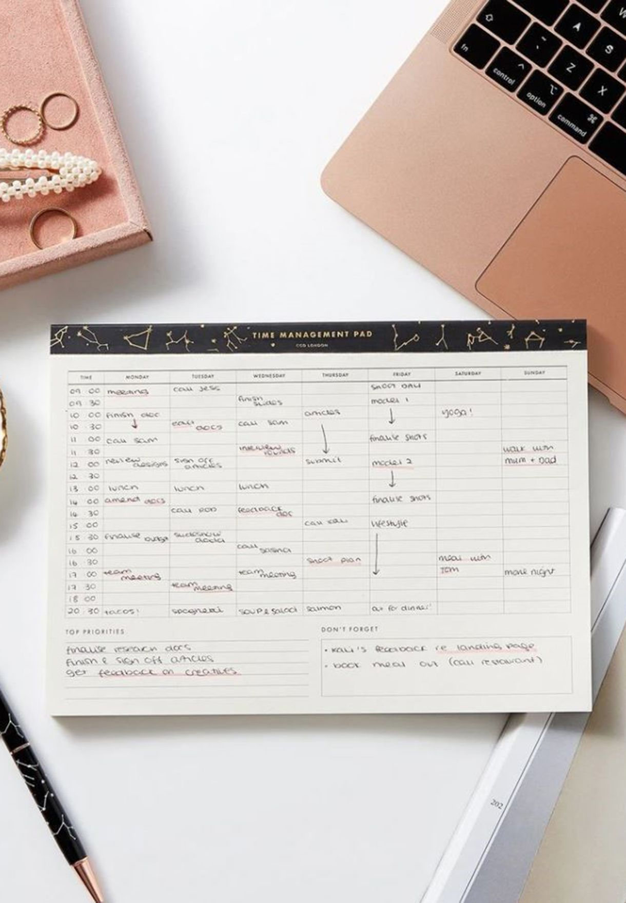 Time Management Pad