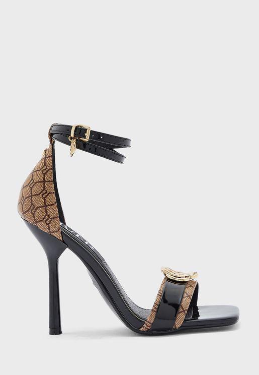 Monogram Barely High Heel Sandal