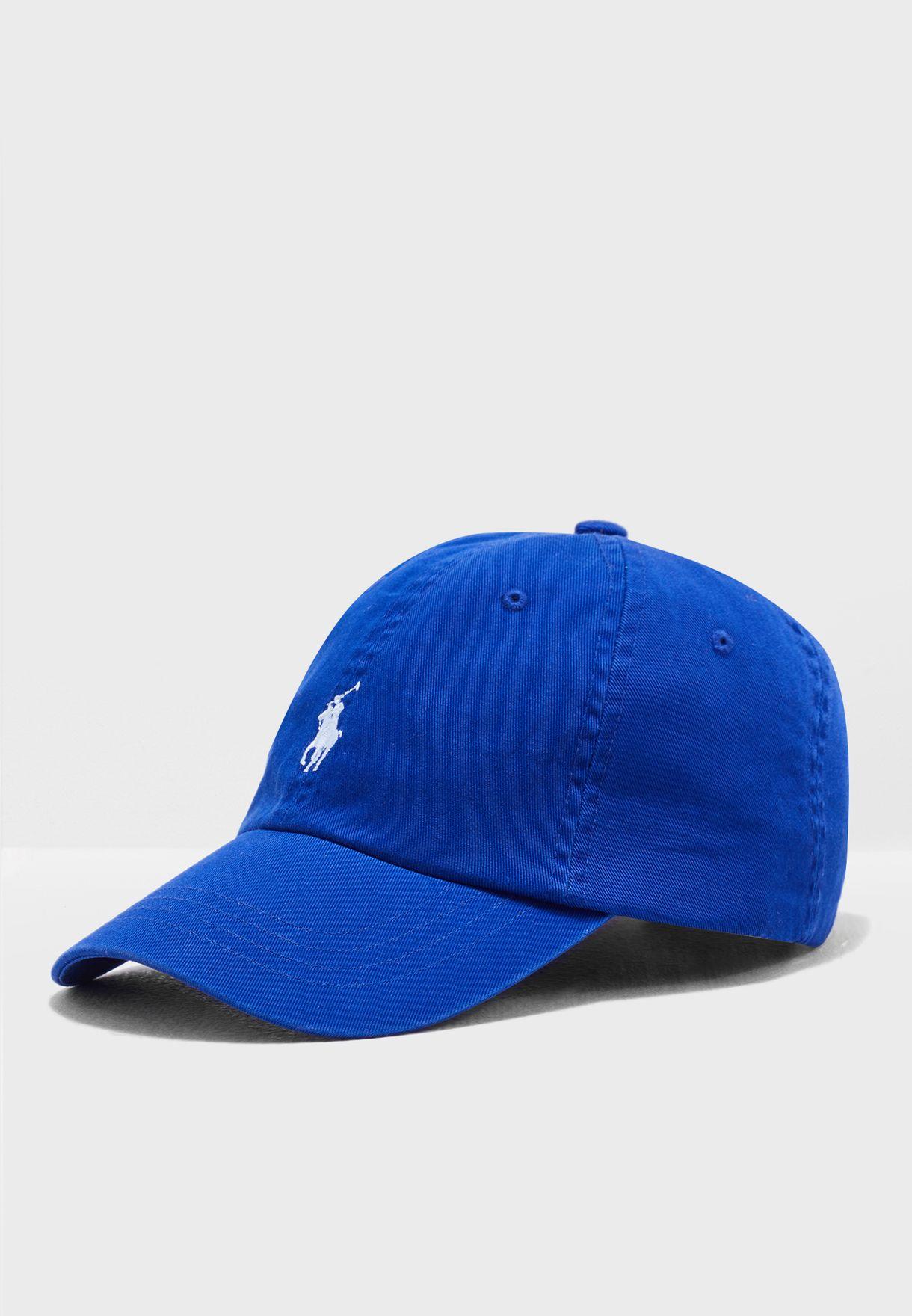1eabf7781ad43 Shop Polo Ralph Lauren blue Cotton Chino Baseball Cap 7.10668E+11 ...
