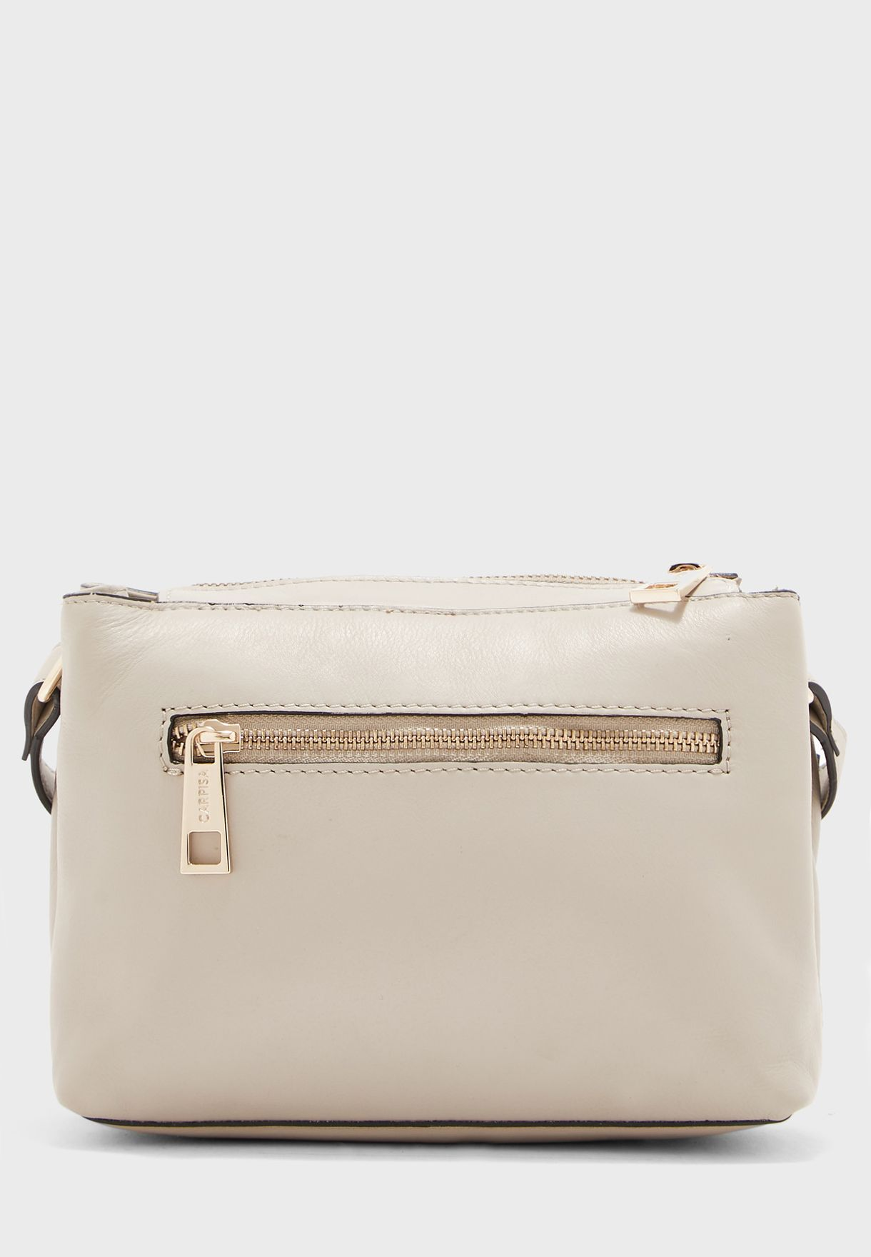 Zipped Central Closure Belted Crossbody