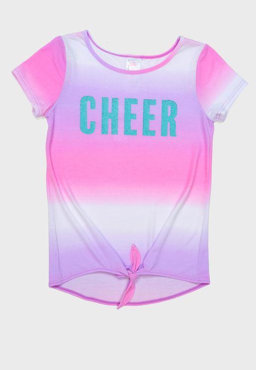 Youth Cheer Tie Hem T-Shirt