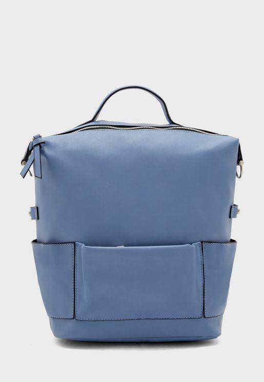 Front Pocket Zip Closure Backpack