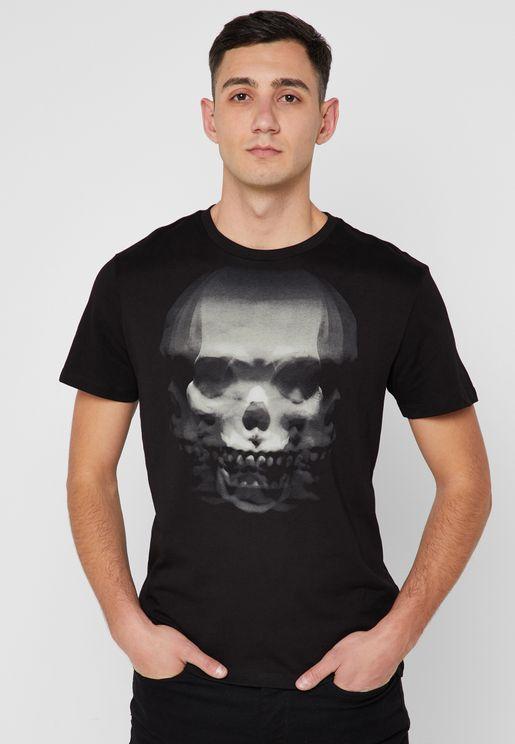 Skull Crew Neck T-Shirt