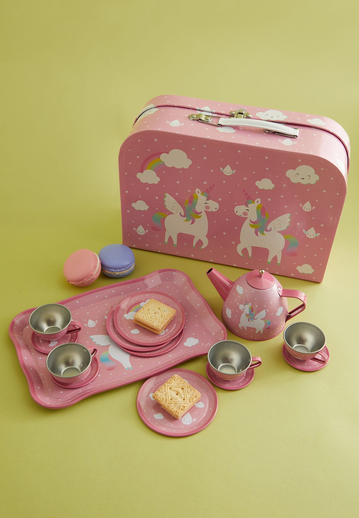 Rainbow Unicorn Picnic Tea Set