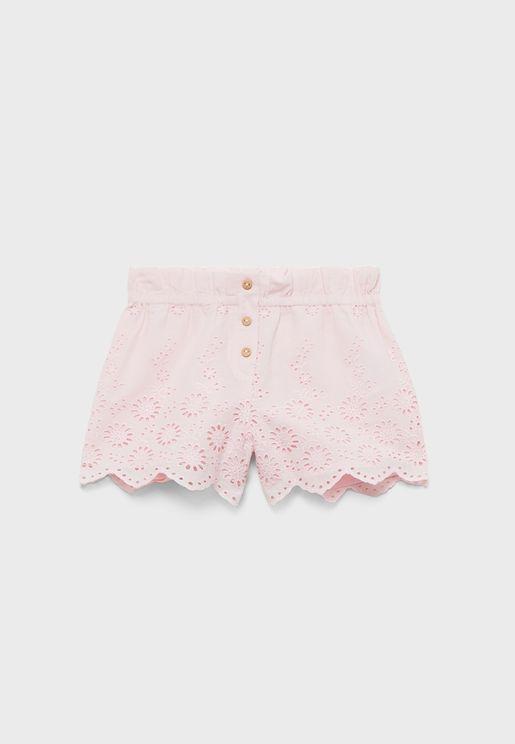 Infant Lace Detail Shorts