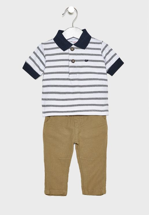 Infant Polo + Pant Set