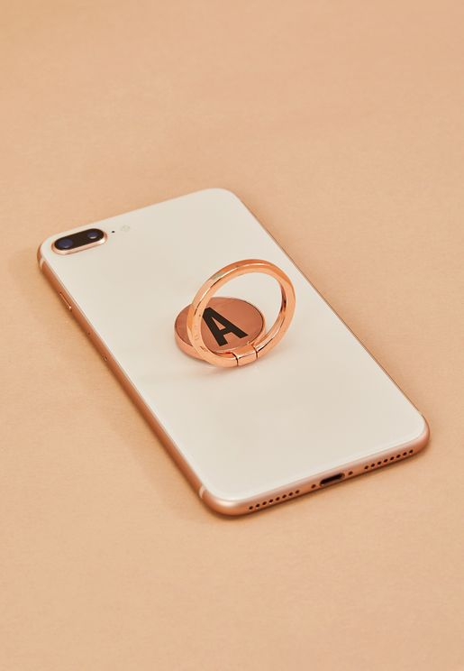 Rose Gold Phone Ring - A