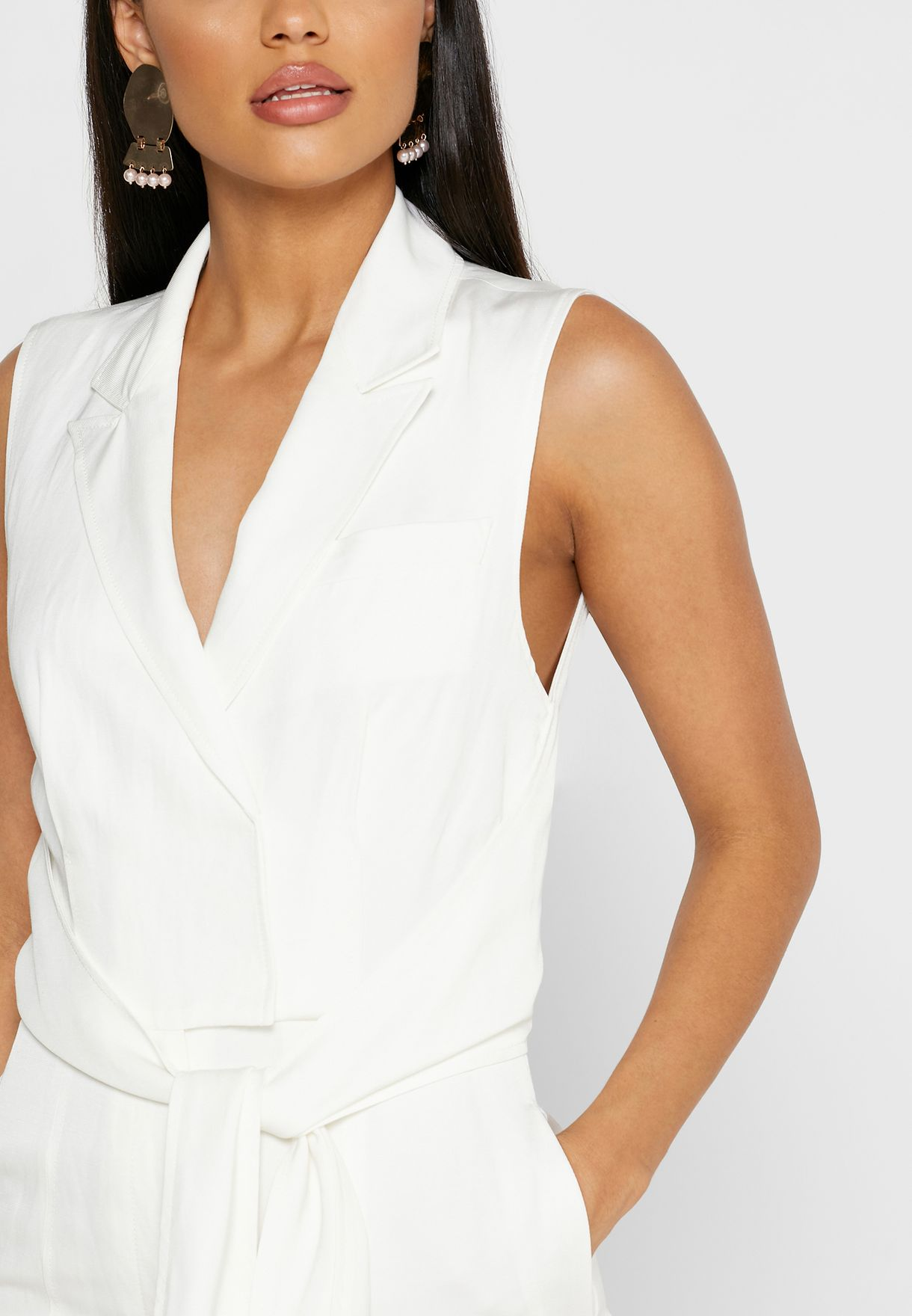 Romy Bow Detail Jumpsuit