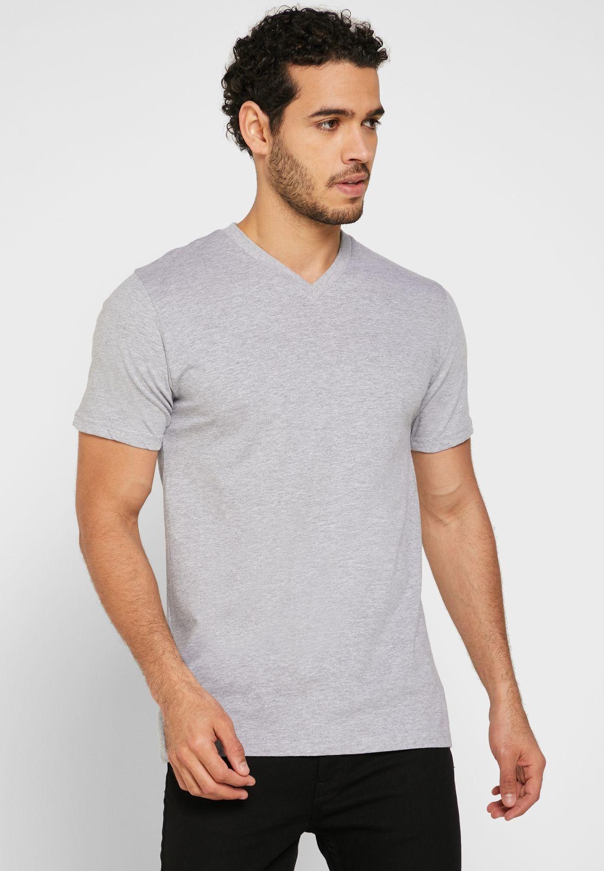 3 Pack Essential V-Neck T-Shirt