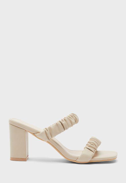 Doubel Strap High Heel Sandals