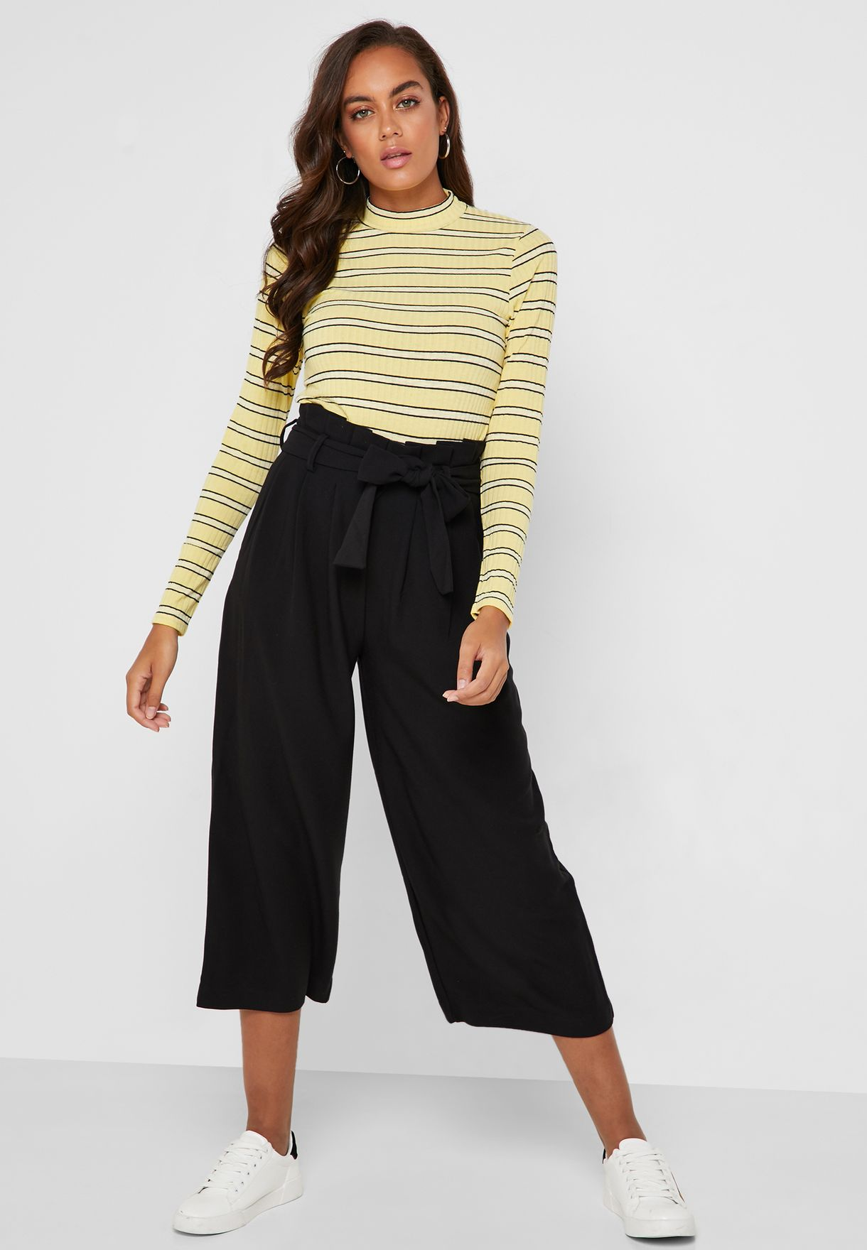 Paperbag Waist Crop Pants