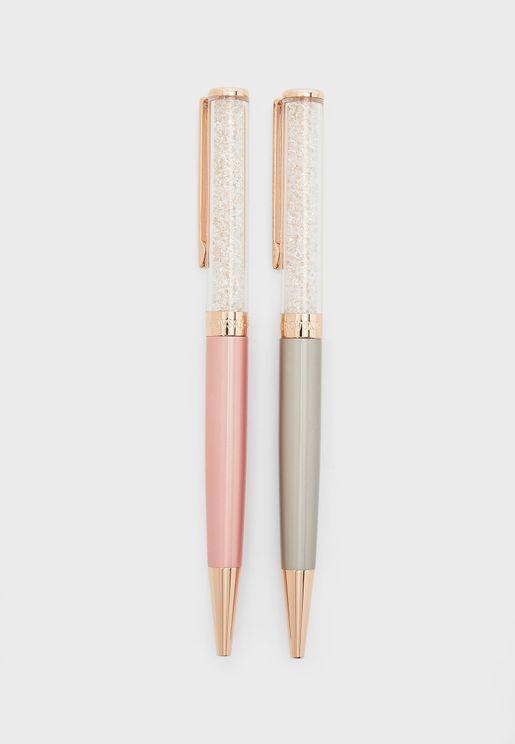 مجموعة من 2 قلم مزين بالكريستال