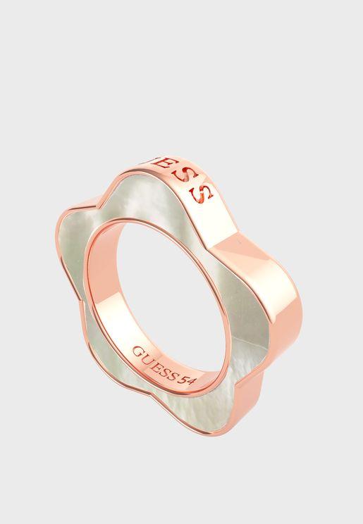 Flower Band Ring