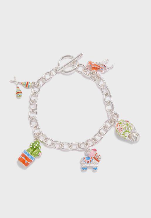 Mexican 5 Charm Bracelet