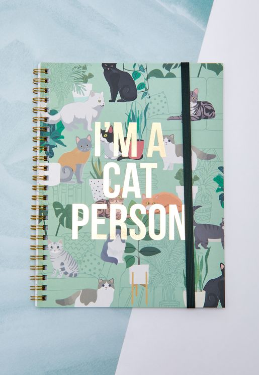 A5 Cat Person Notebook
