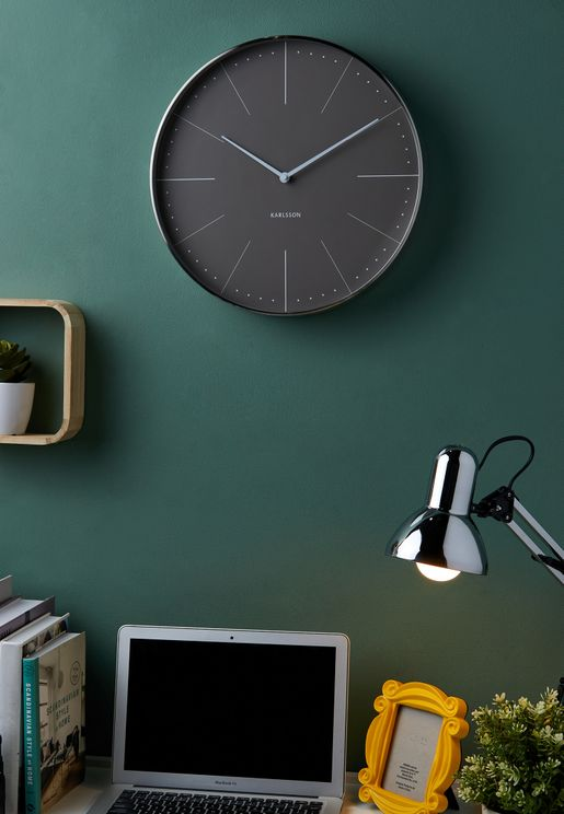 Normann Brushed Grey Wall Clock