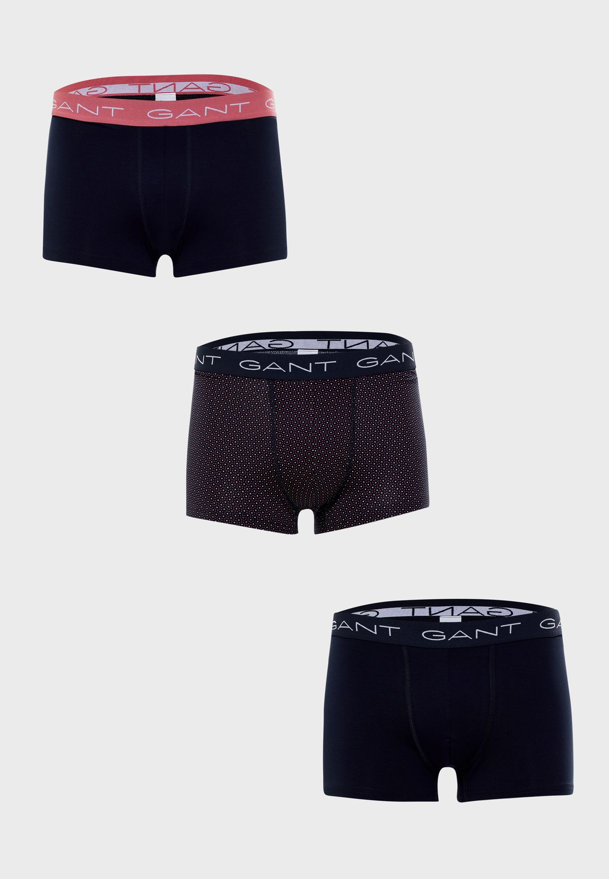 3 Pack Logo Band Assorted Trunks