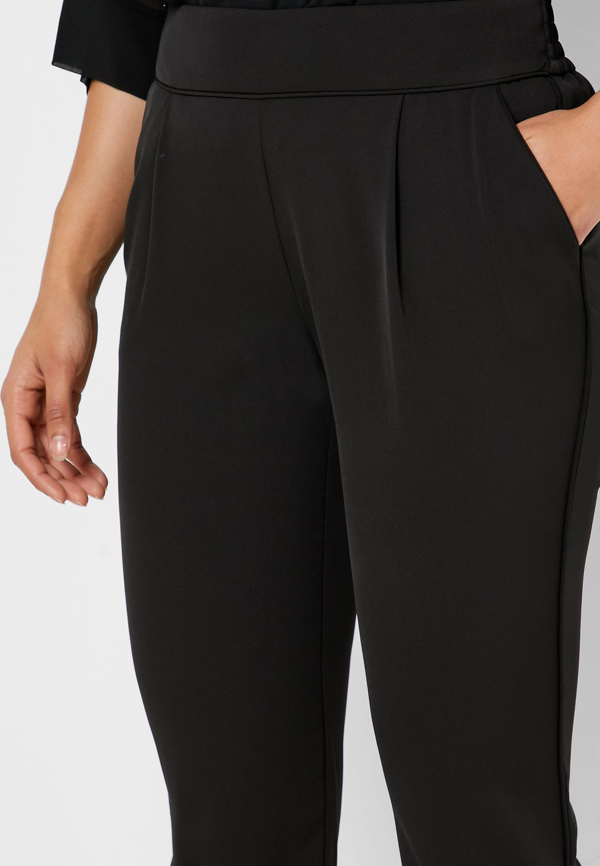 Pleated Ankle Grazer Pants