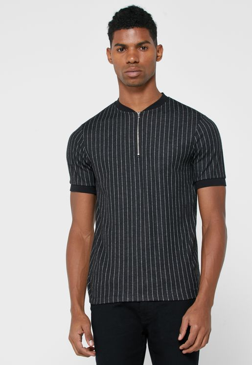 Striped Baseball Polo