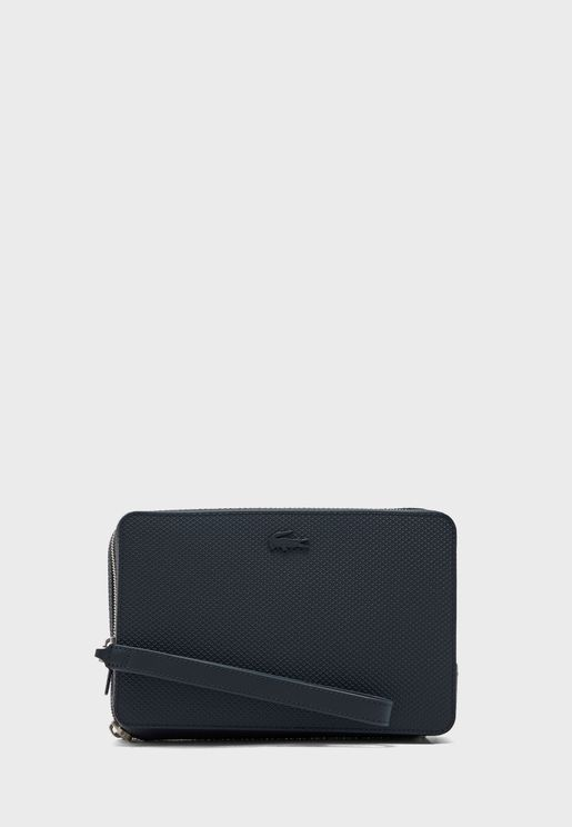 Chantaco Piqué Leather Zip Pouch
