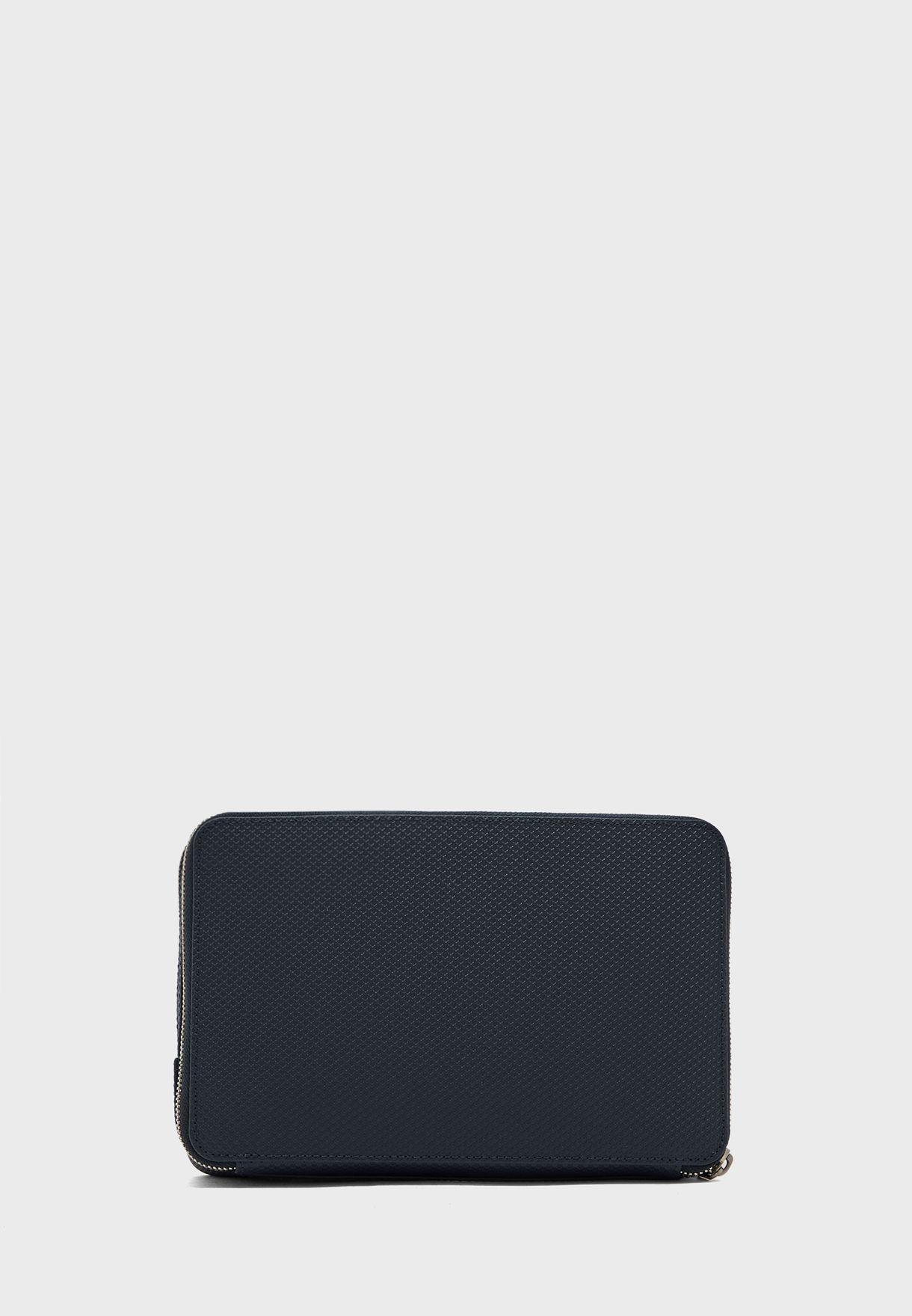 Chantaco Piqué Leather Zip Pouch