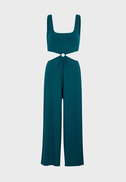 Cropped Top & Wide Leg Pyjama Set