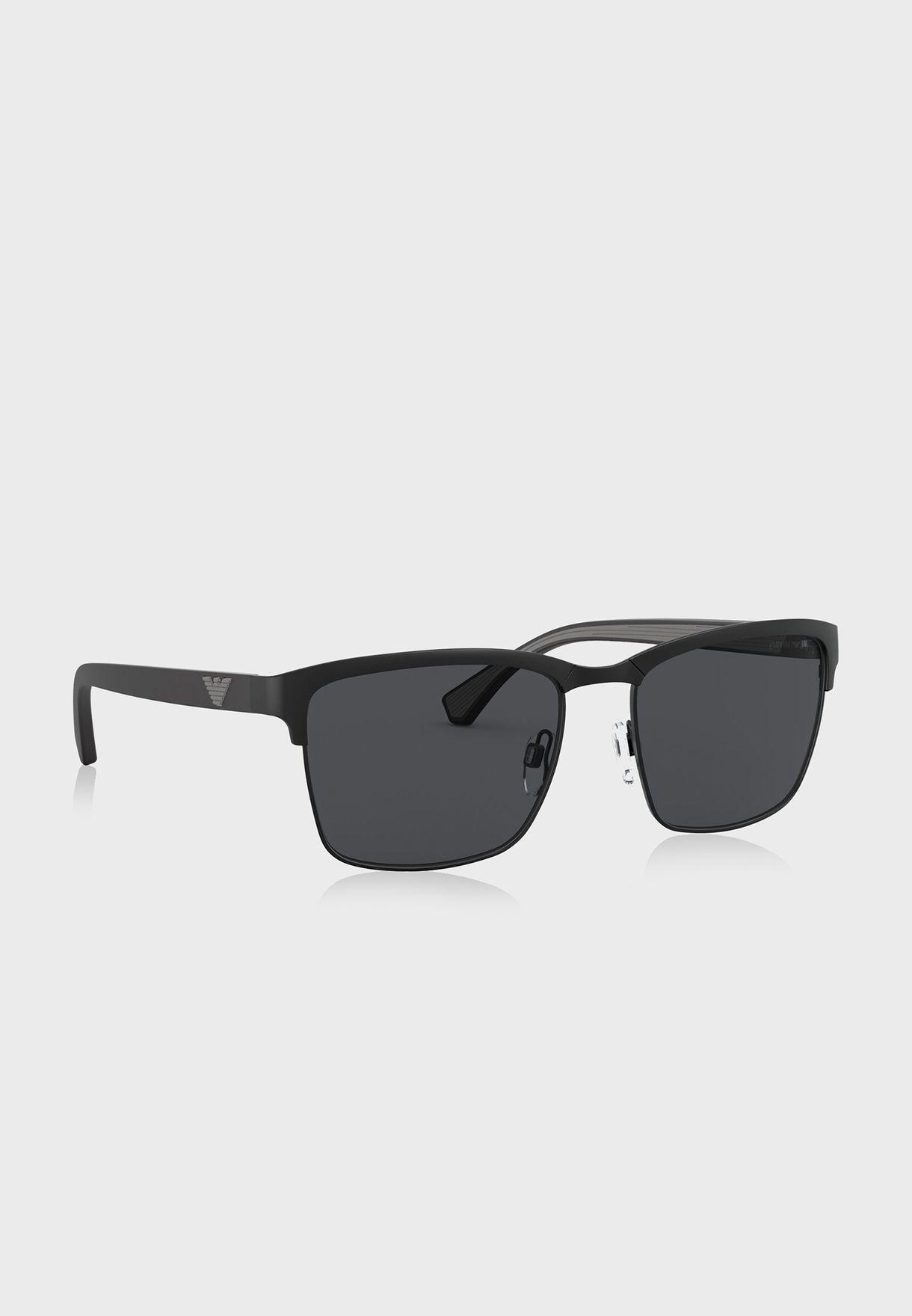 0EA2087 Square Sunglasses