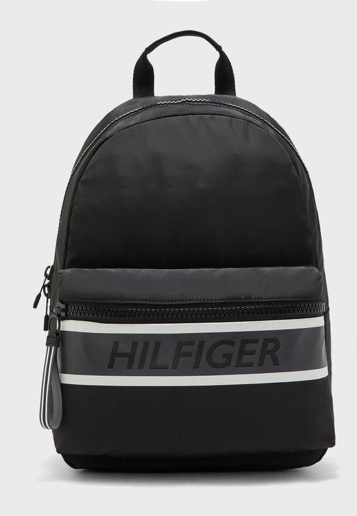 Bold Logo Stripe Backpack