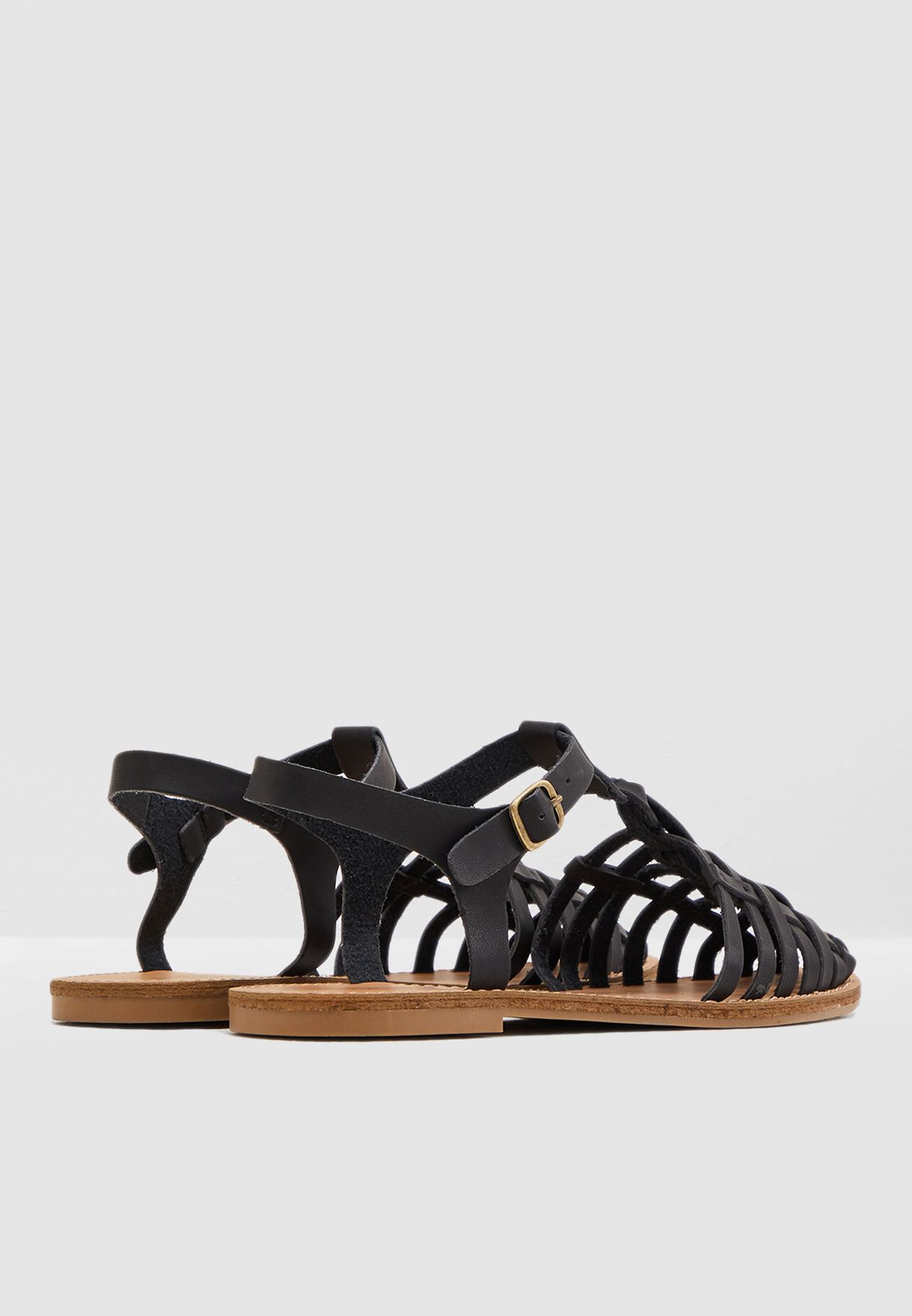 Karlise T Bar Sandal - Black