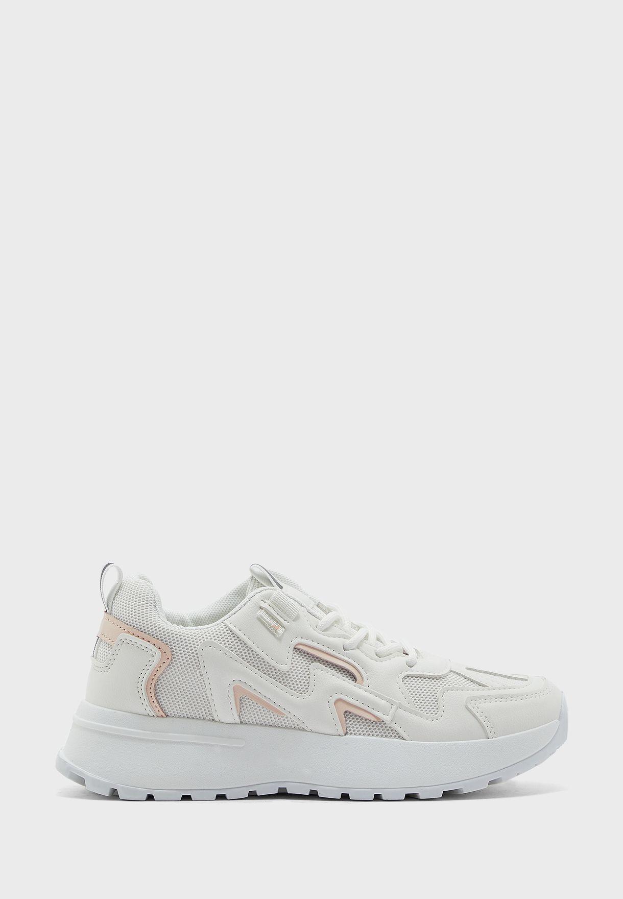 Pink Trim Sneakers