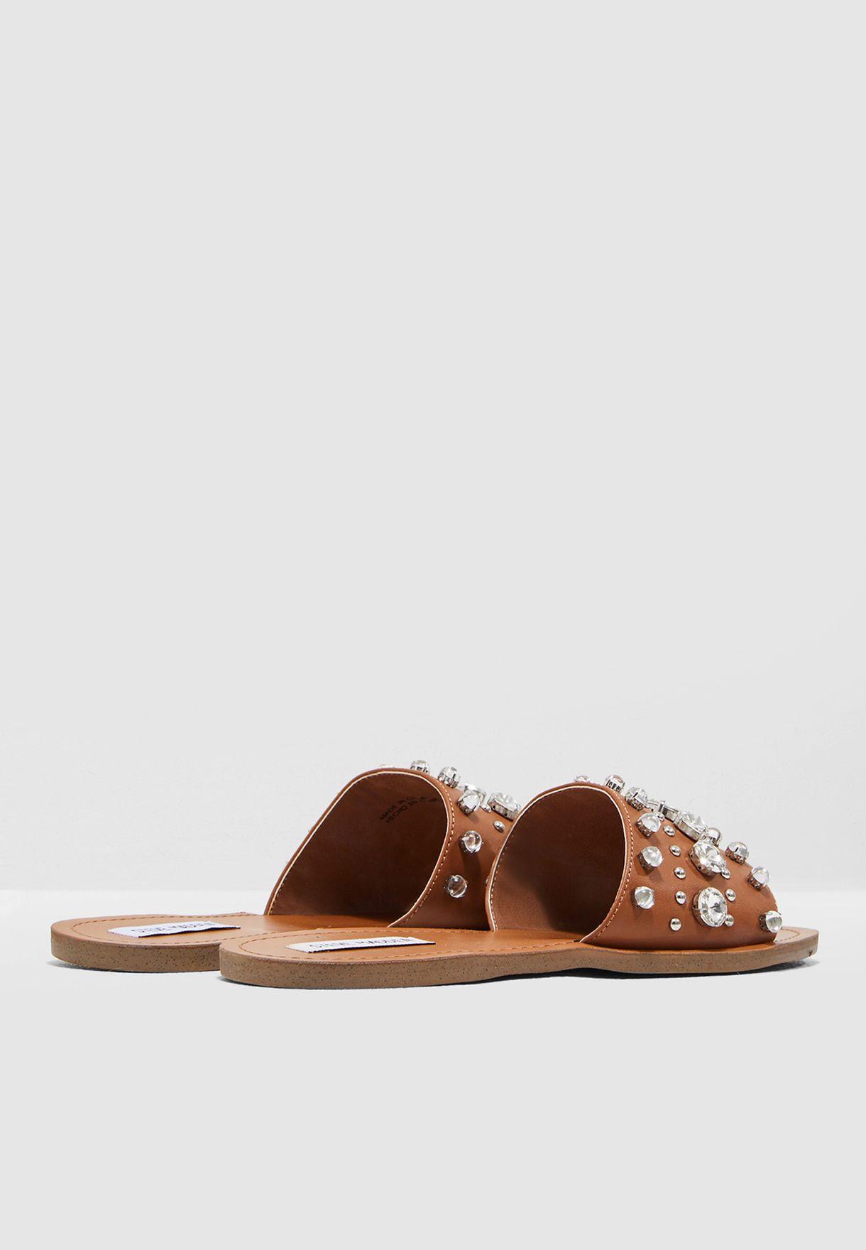 ad9391297 Shop Steve Madden Brown Regent Sandal With Pearl REGENT for Women in ...