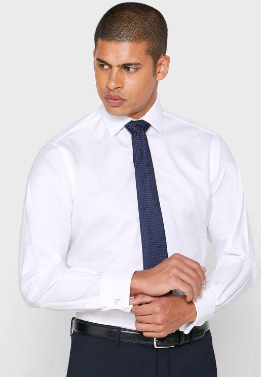 قميص سليم فيت باساور مزدوجة