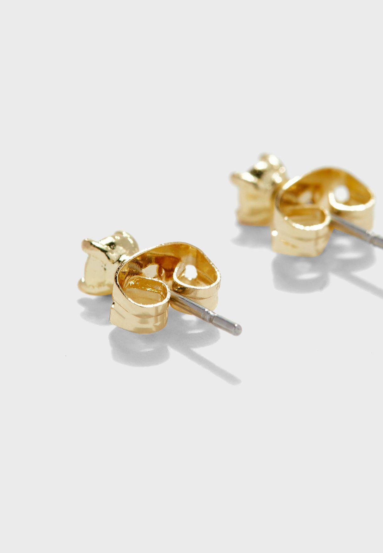 Nenna Nano Sparkle Stud Earrings