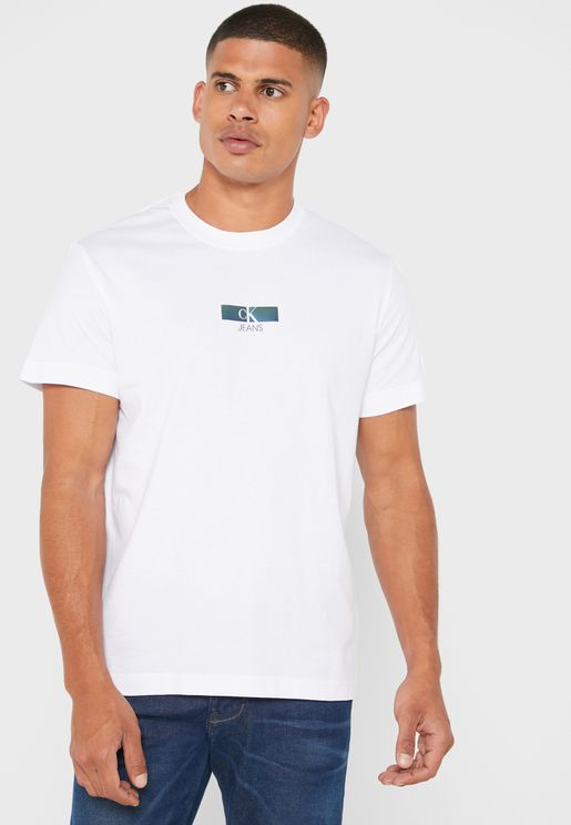 Iridescent Graphic Crew Neck T-Shirt
