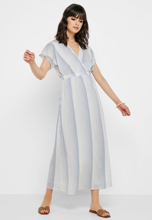 Ruffle Detail Surplice Dress