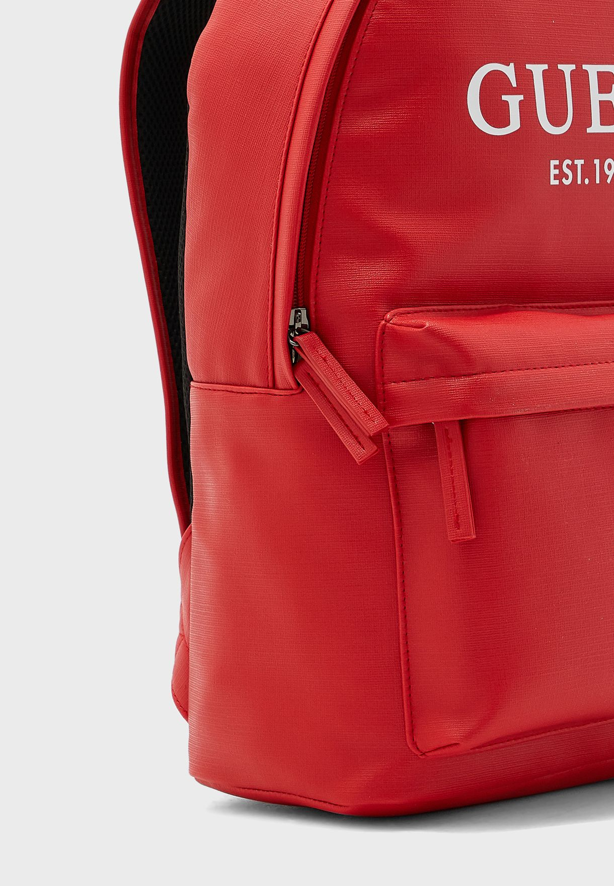 Logo Front Zip Backpack