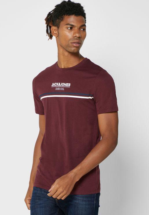 Logo Slim Fit Crew Neck T-Shirt