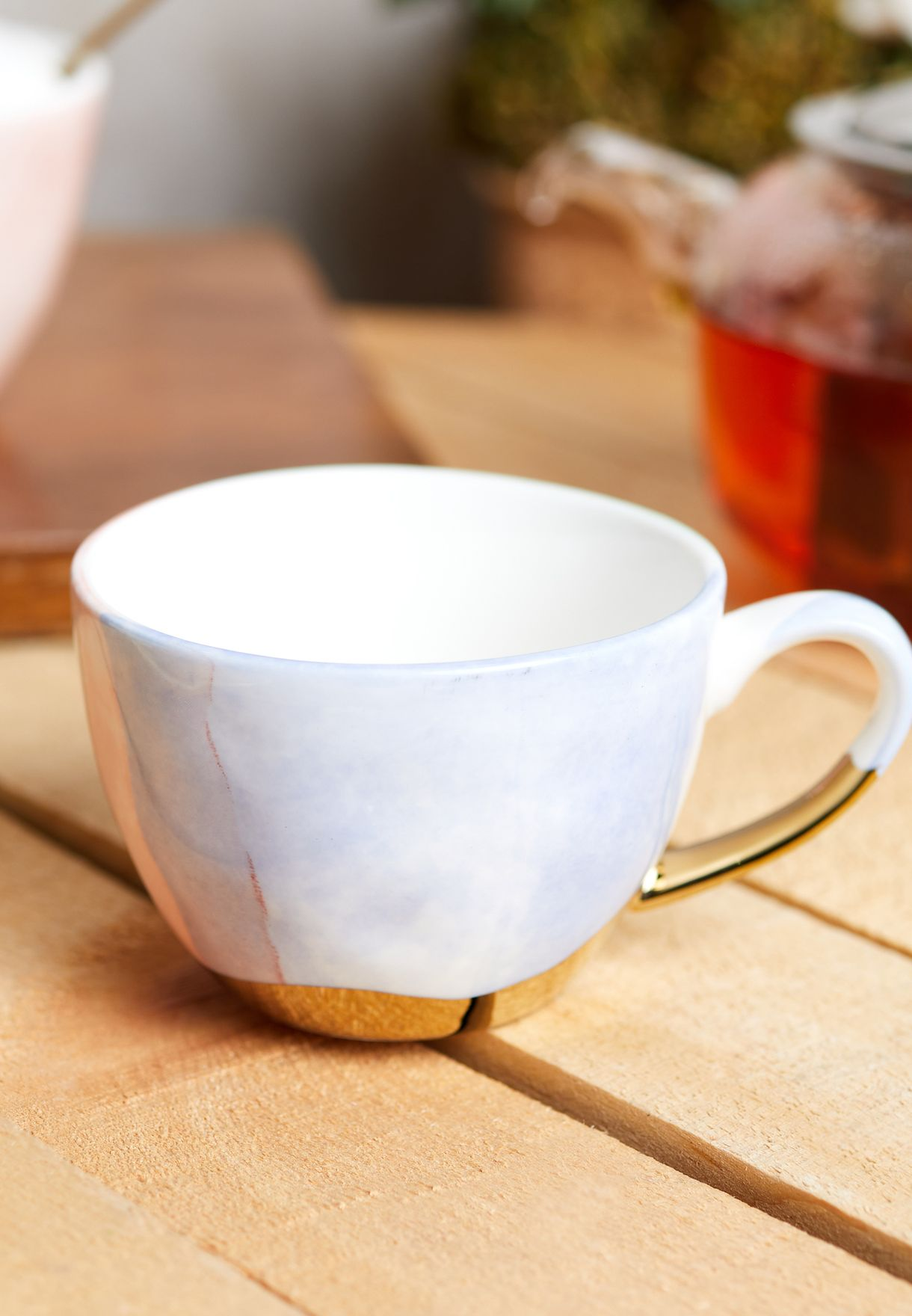 Hand Painted Porcelain Cup & Saucer