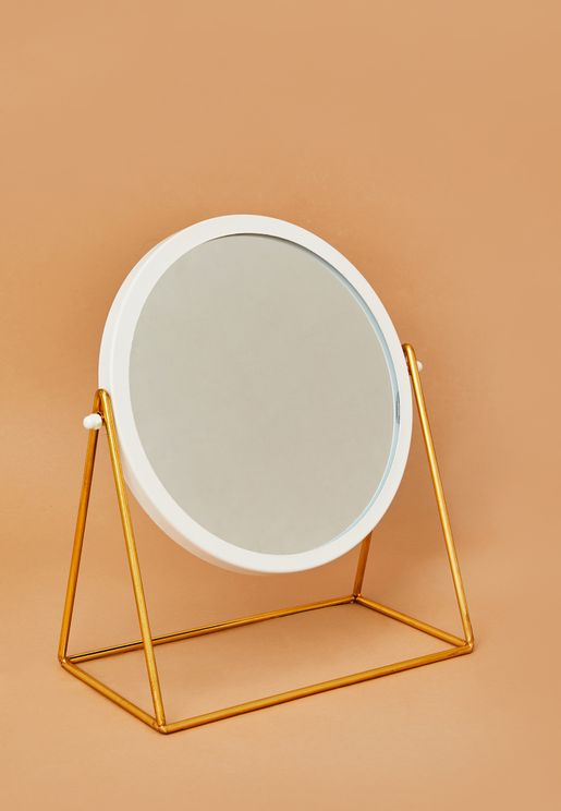 Minimal Round Table Mirror