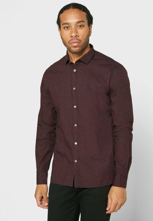 Abstract Print Slim Fit Shirt